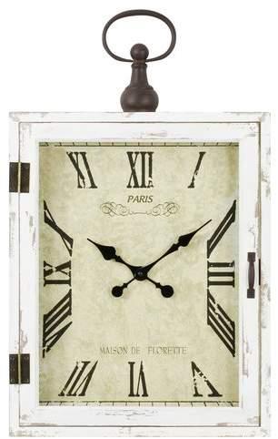 One Allium Way Ba Farmhouse Wall Clock Affiliate White Wall Decor Clock Wall Decor Wall Clock
