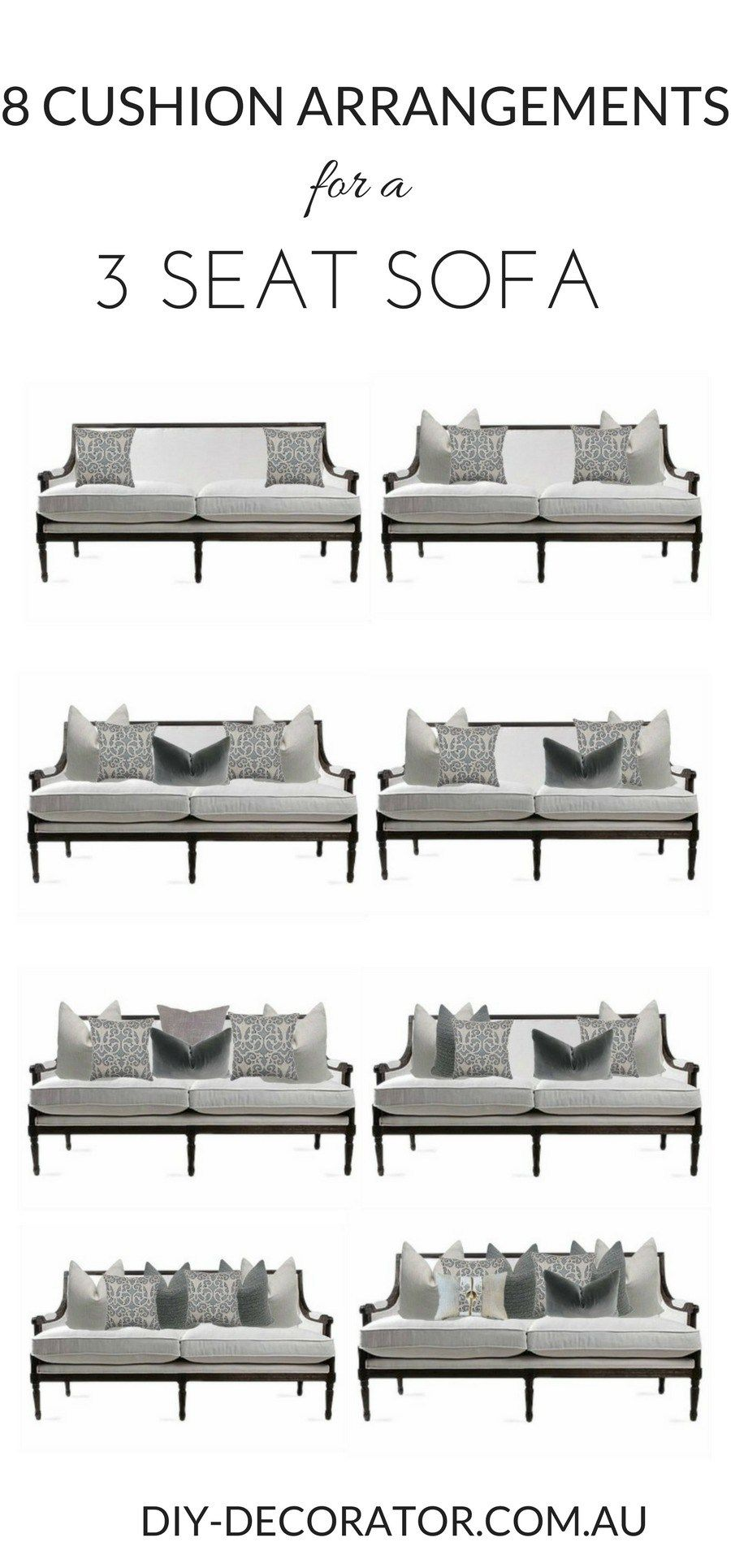 Cushion Arrangements For A 3 Seat Sofa How Many Cushions Should You Have On And To Arrange Them Here Are 8 Simple Pillow Styling Recipes