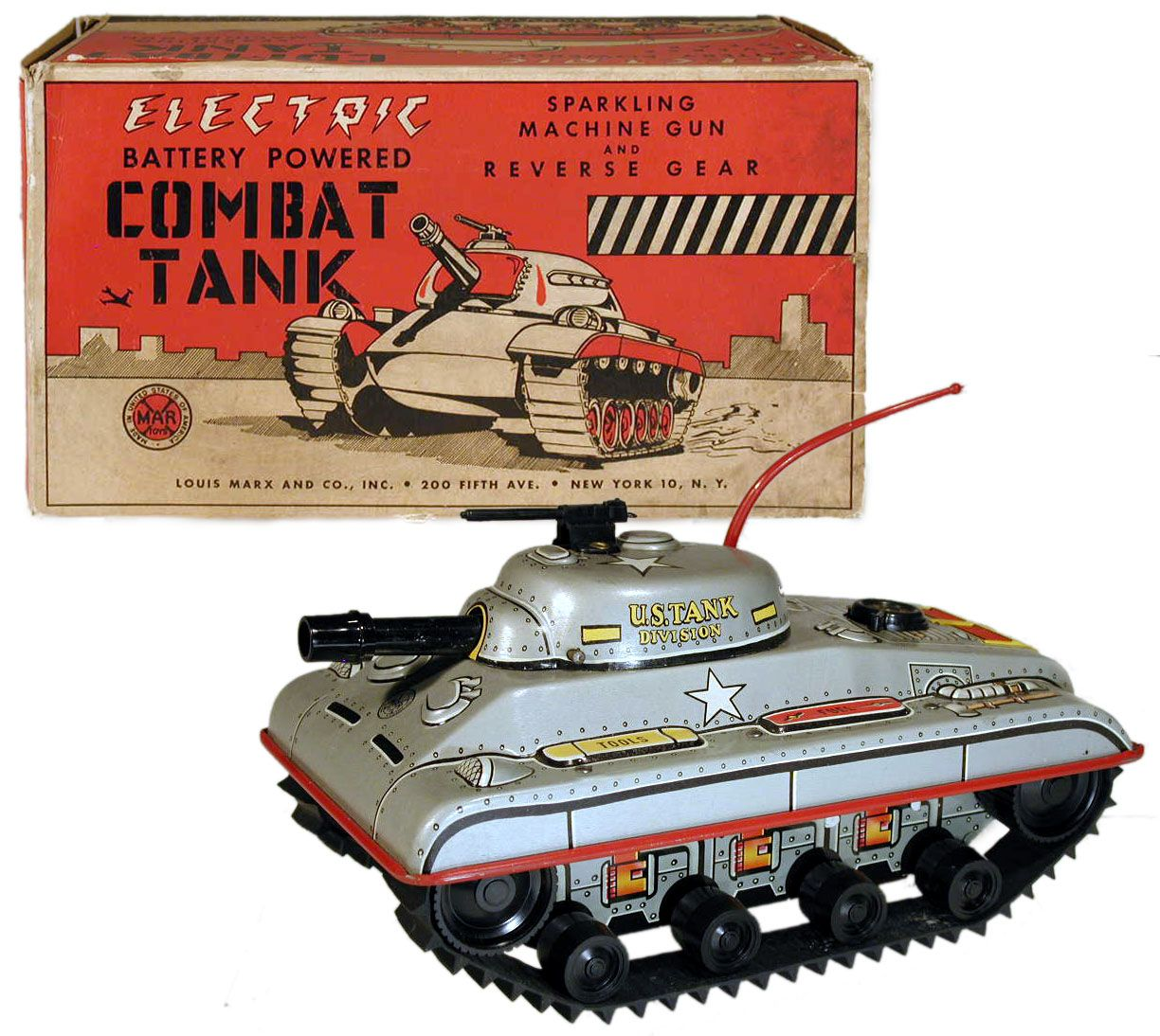 c.1951 Marx, Electric Battery Powered Combat Tank (Factory Sample)