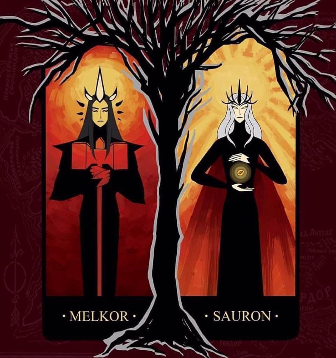 The Dark Lords Melkor Sauron Www Immortaltolkien Com Link In Bio Follow Immortal Tolkien Melkor The Hobbit Dark Lord