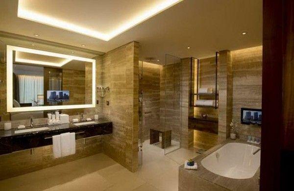 1001 ideen f r badbeleuchtung decke effektvolle und for Raumgestaltung definition