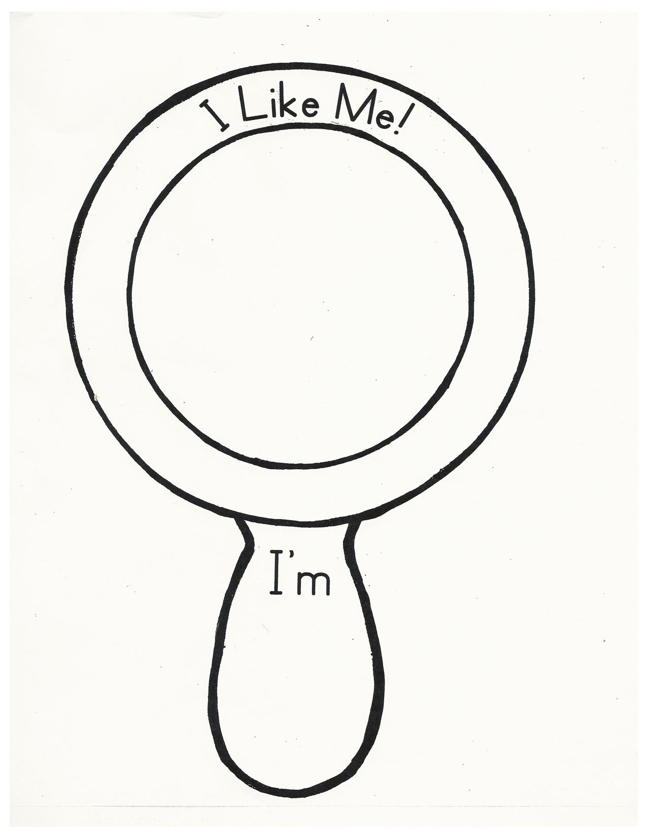 hand held mirror template printable sketch template