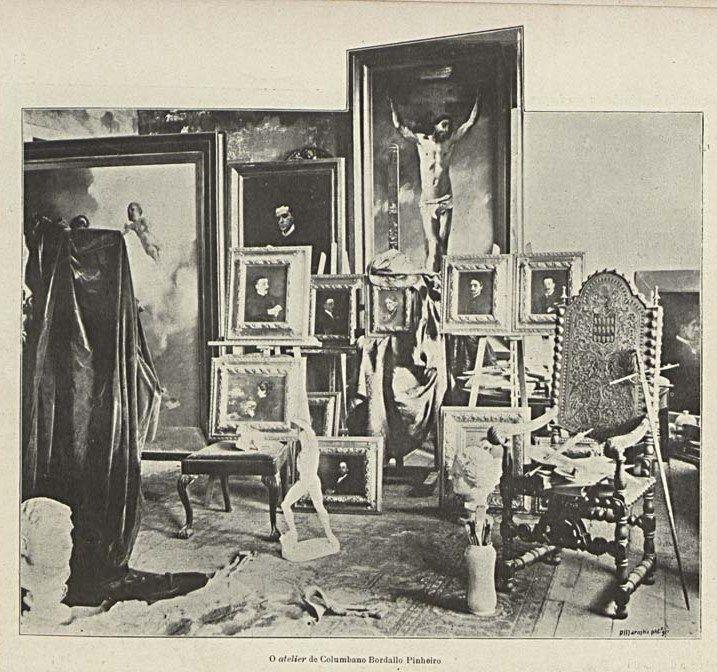 Atelier de Columbano Bordalo Pinheiro, in Brasil-Portugal, n.º 28