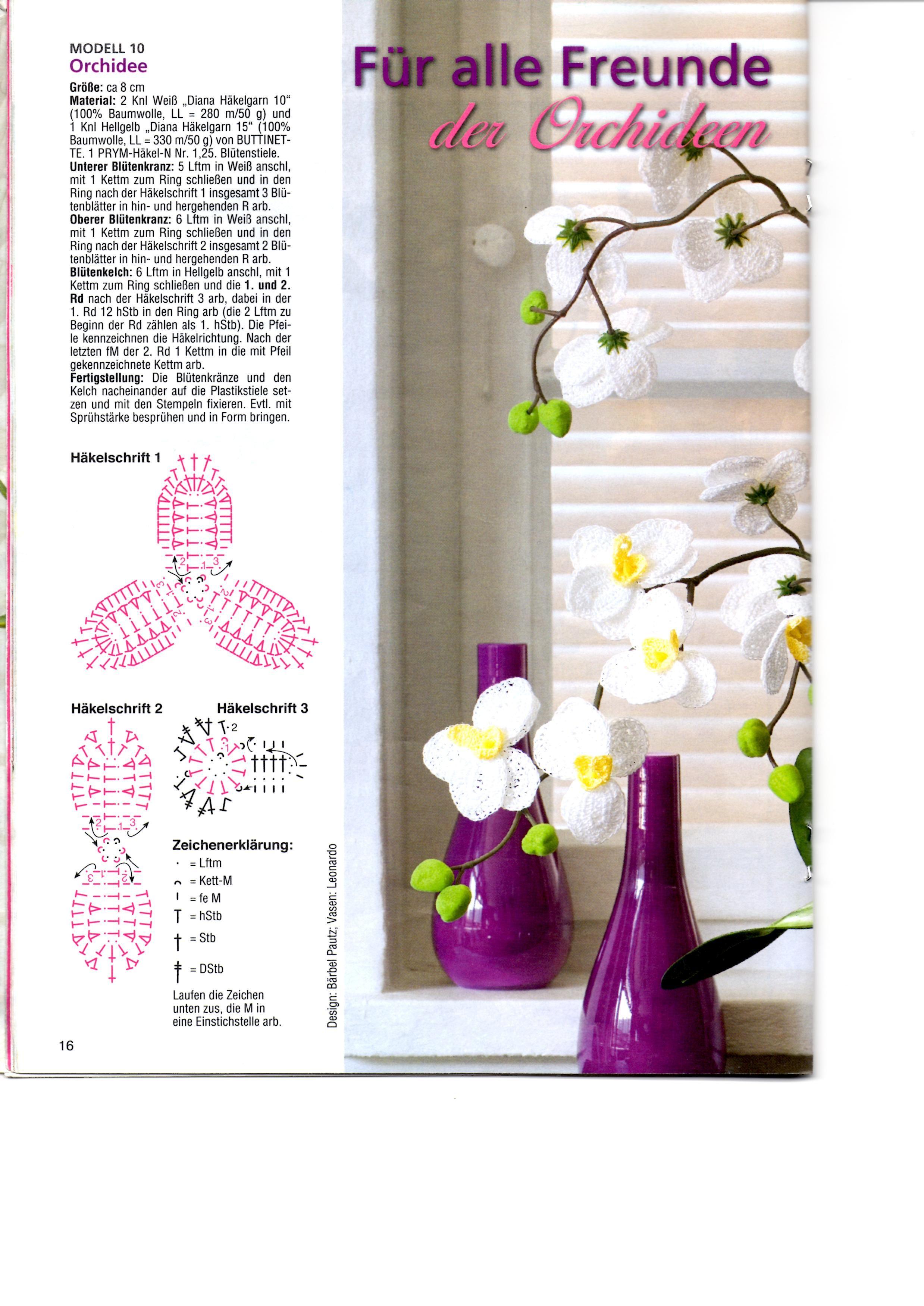 """Képtalálat a következőre: """"horgolt orchidea""""   horgolt virág ..."""