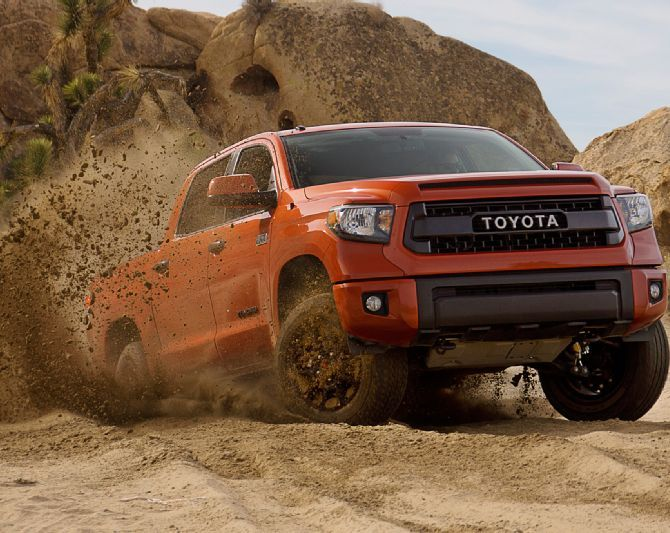 Toyota Tundra Trd Pro Front Side View Offroad