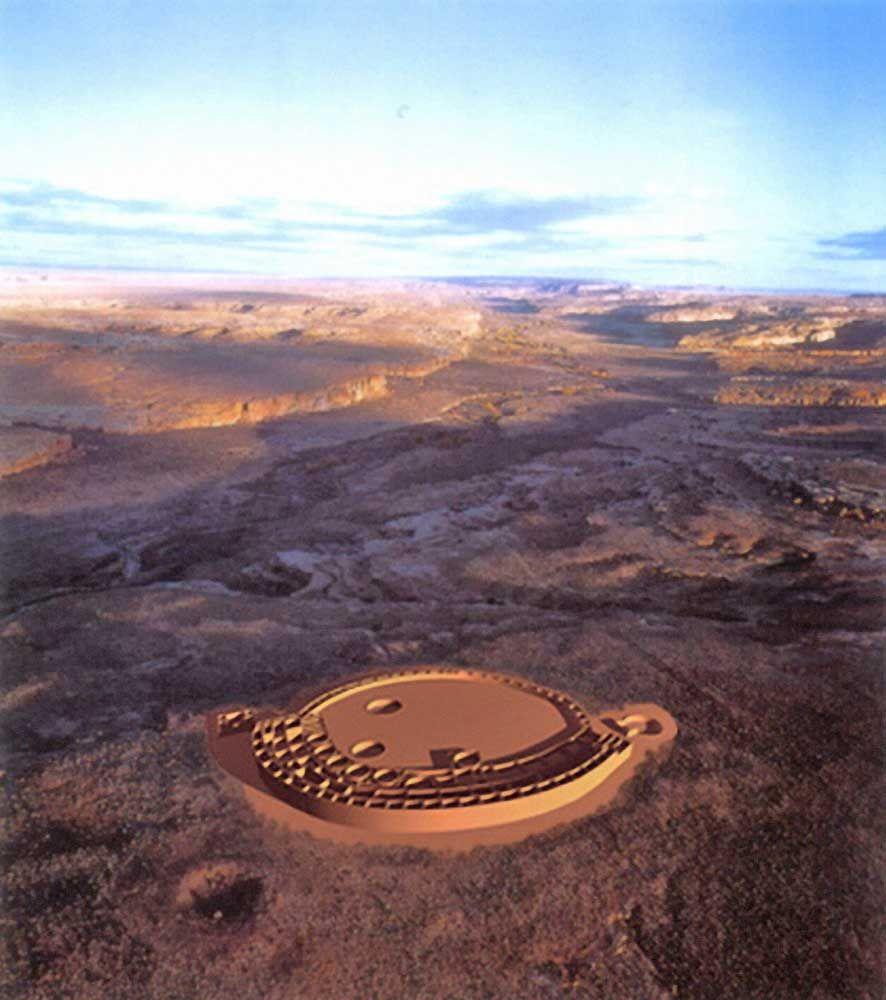 New mexico taos county penasco - Computerized Photo Image Of Penasco Blanco Chaco Culture Chaco Canyon New Mexico