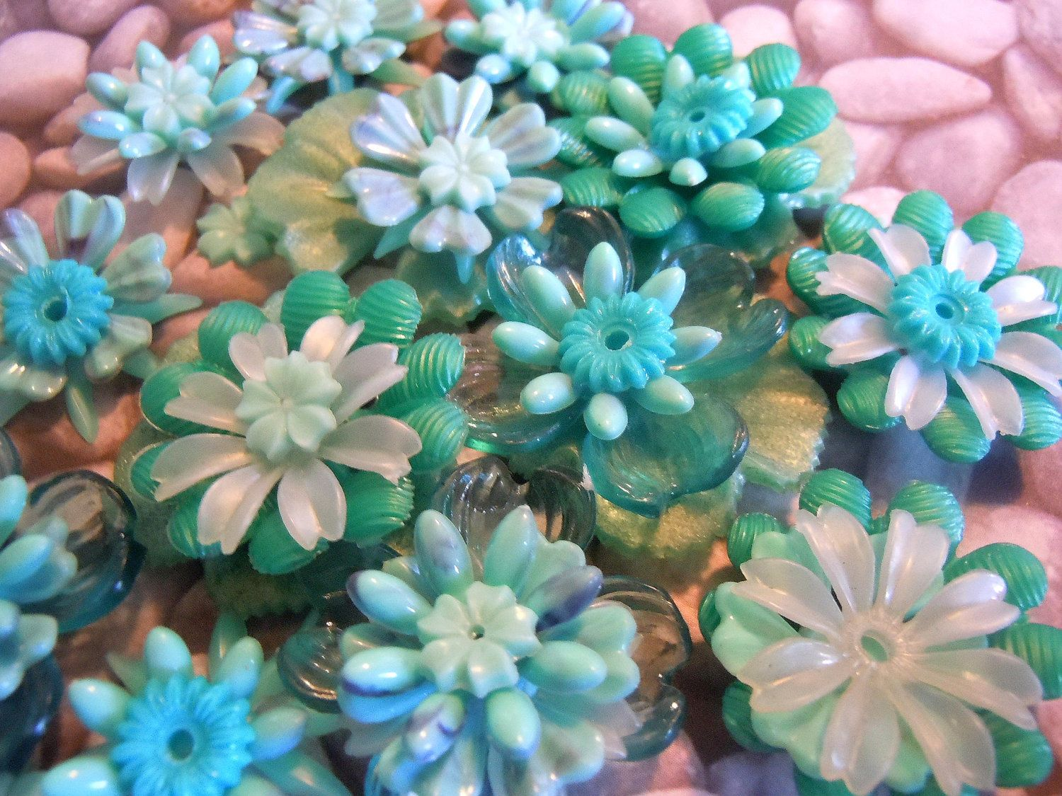 Vintage Lucite Beads