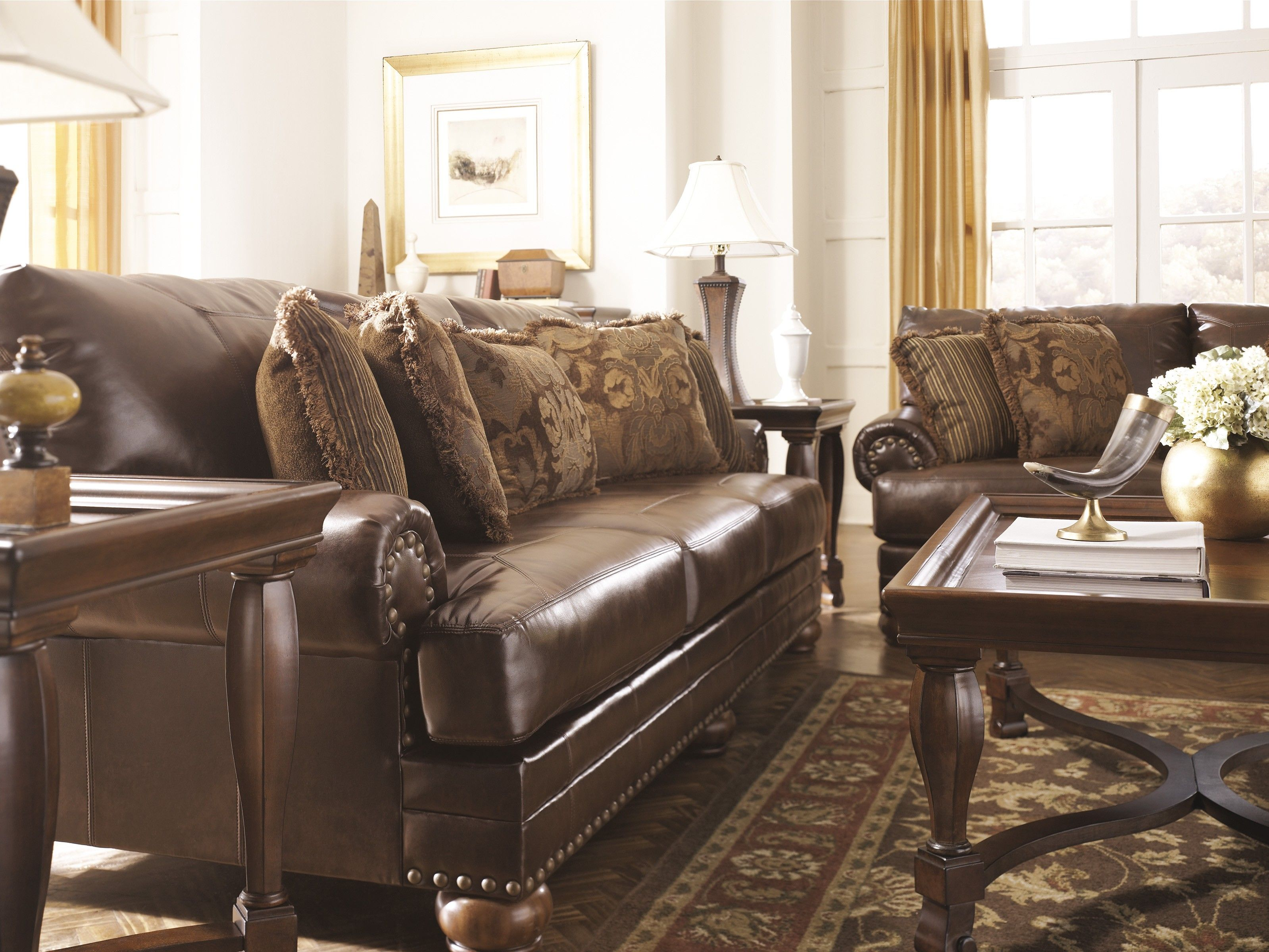 Cool Ashley Leather Sofas Good 13 In Modern Sofa Inspiration With