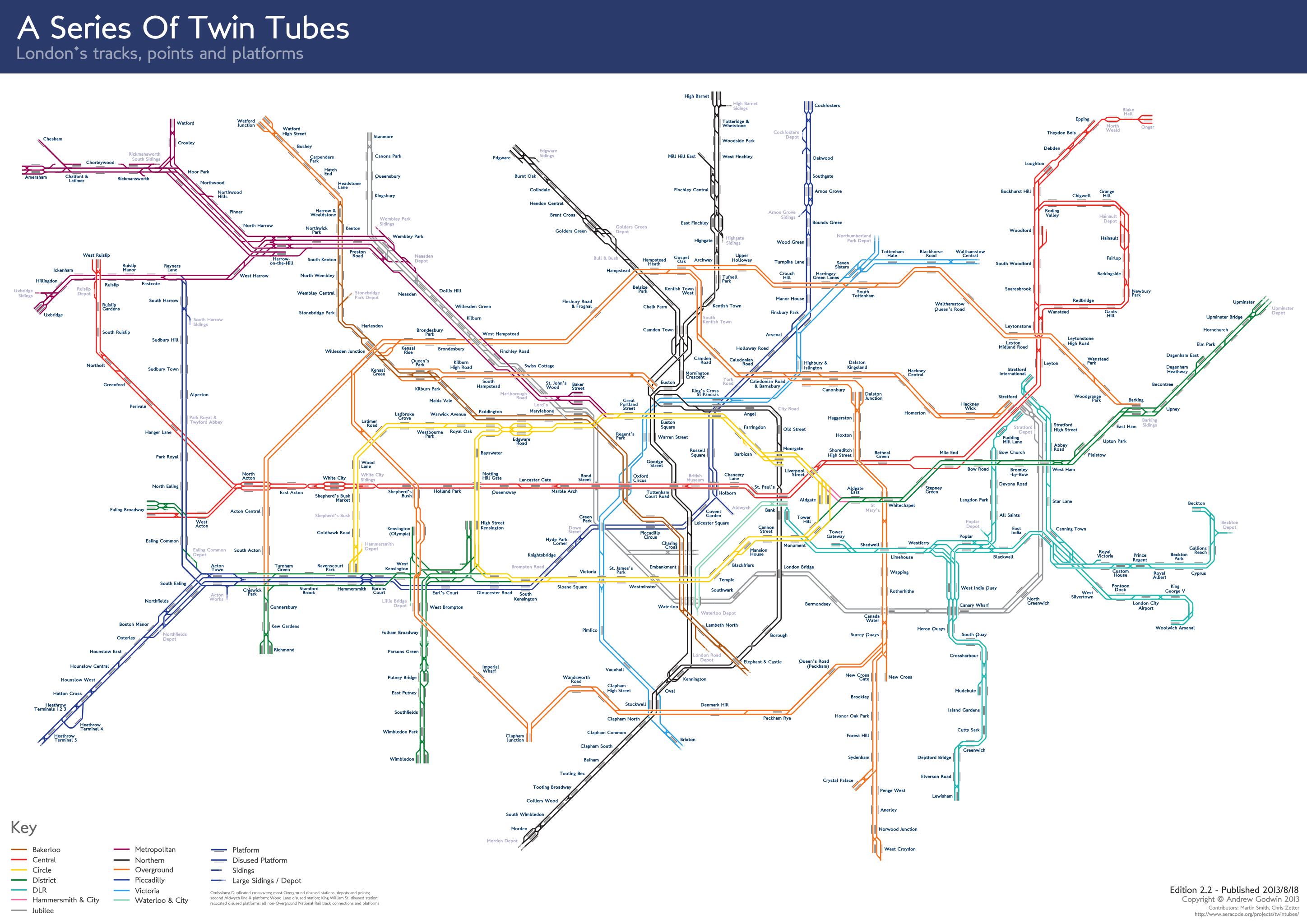 Twintubes v2g 28962048 maps pinterest london underground a non geographical map of the london underground showing the layout of the tracks platforms and points gumiabroncs Choice Image