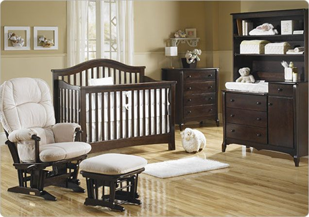 Baby Furniture Sets In Colorful Design For Cute Baby Room Ideas :  Traditional Baby Furniture Sets In Dark Wooden Design