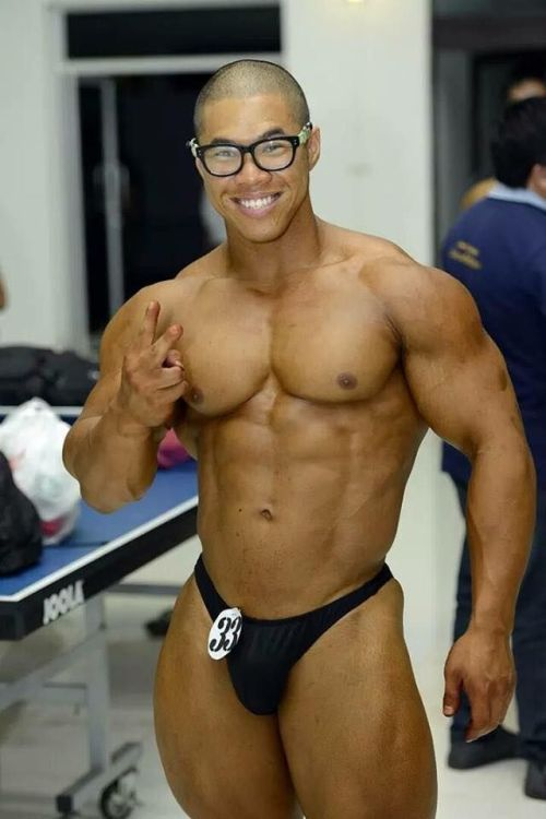 Erotic male body builder