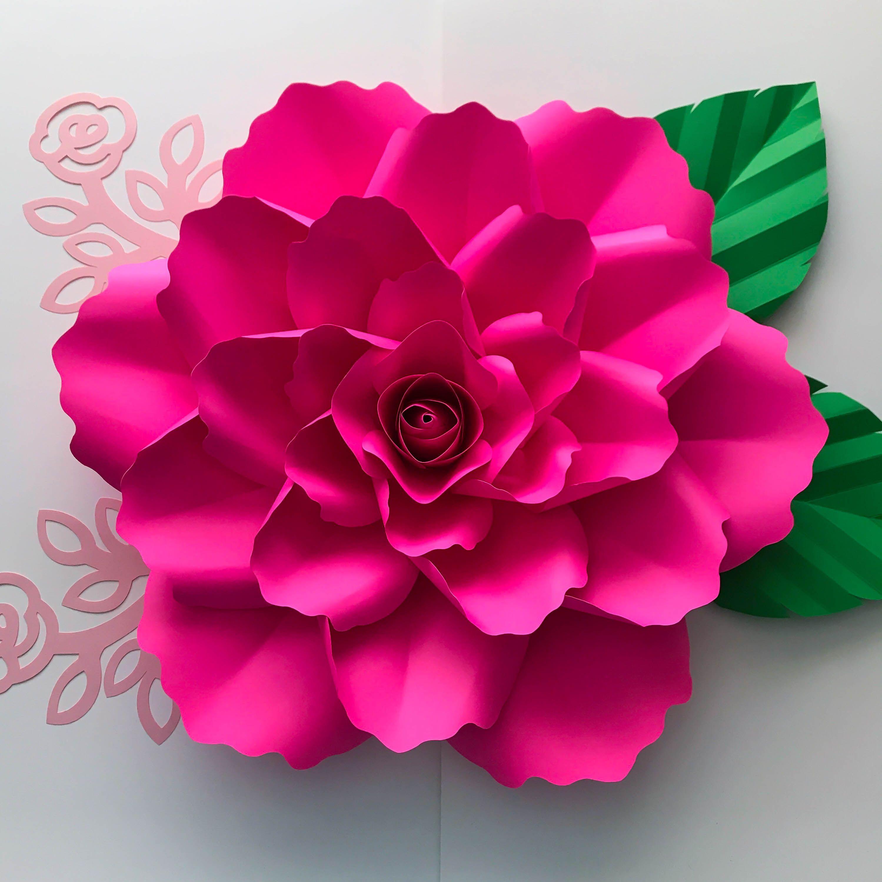 paper flowers svg petal 99 with clover rose center elegant rose flower template with center. Black Bedroom Furniture Sets. Home Design Ideas