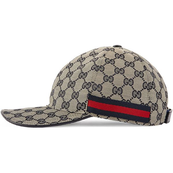 5725454b Gucci Gg Canvas Baseball Hat ($250) ❤ liked on Polyvore featuring men's  fashion, men's accessories, men's hats, hats, accessories, women and gucci  mens hat