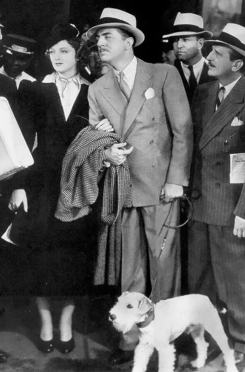 Myrna Loy, William Powell and Asta in After the Thin Man 1936