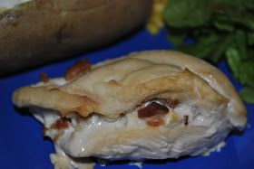 Life With 4 Boys: Slow Cooker Feta and Bacon Stuffed Chicken