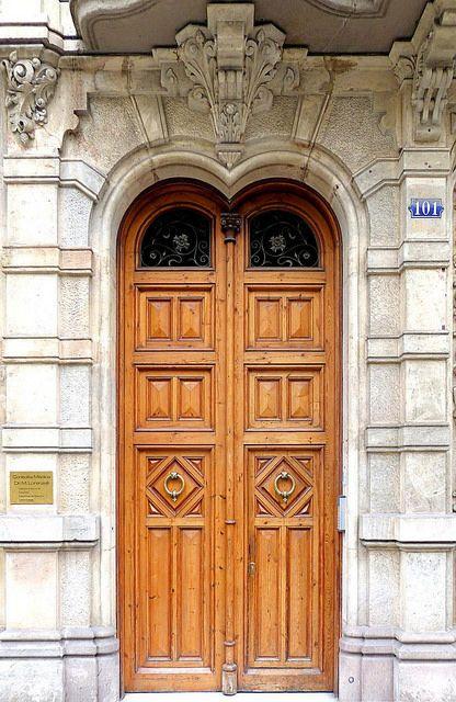 Doors at Casa Verdú in Barcelona, Spain - photo by Arnim Schulz, via Flickr; c. 1905
