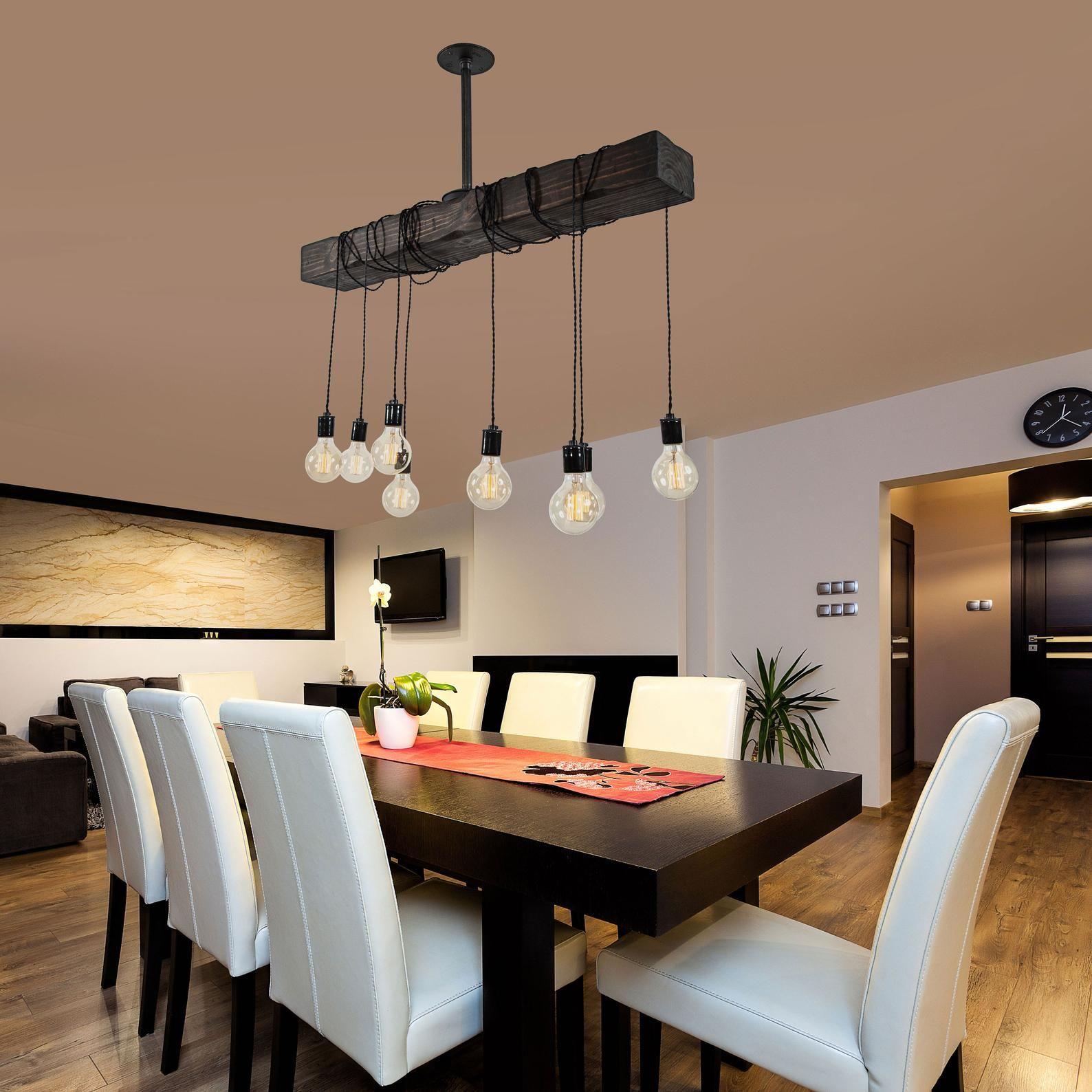 Rustic wood beam light / modern farmhouse chandelier