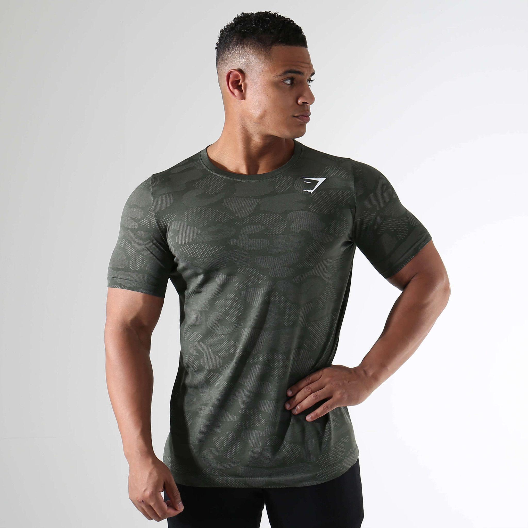 7e08a4457fb30 Gymshark Seamless Stealth T-Shirt - Alpine Green