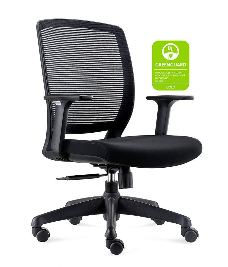 Best Computer Chair For Back Slipcovers Club Chairs And Ottomans Chairlin Mid Modern Ergonomic Mesh Fabric Top