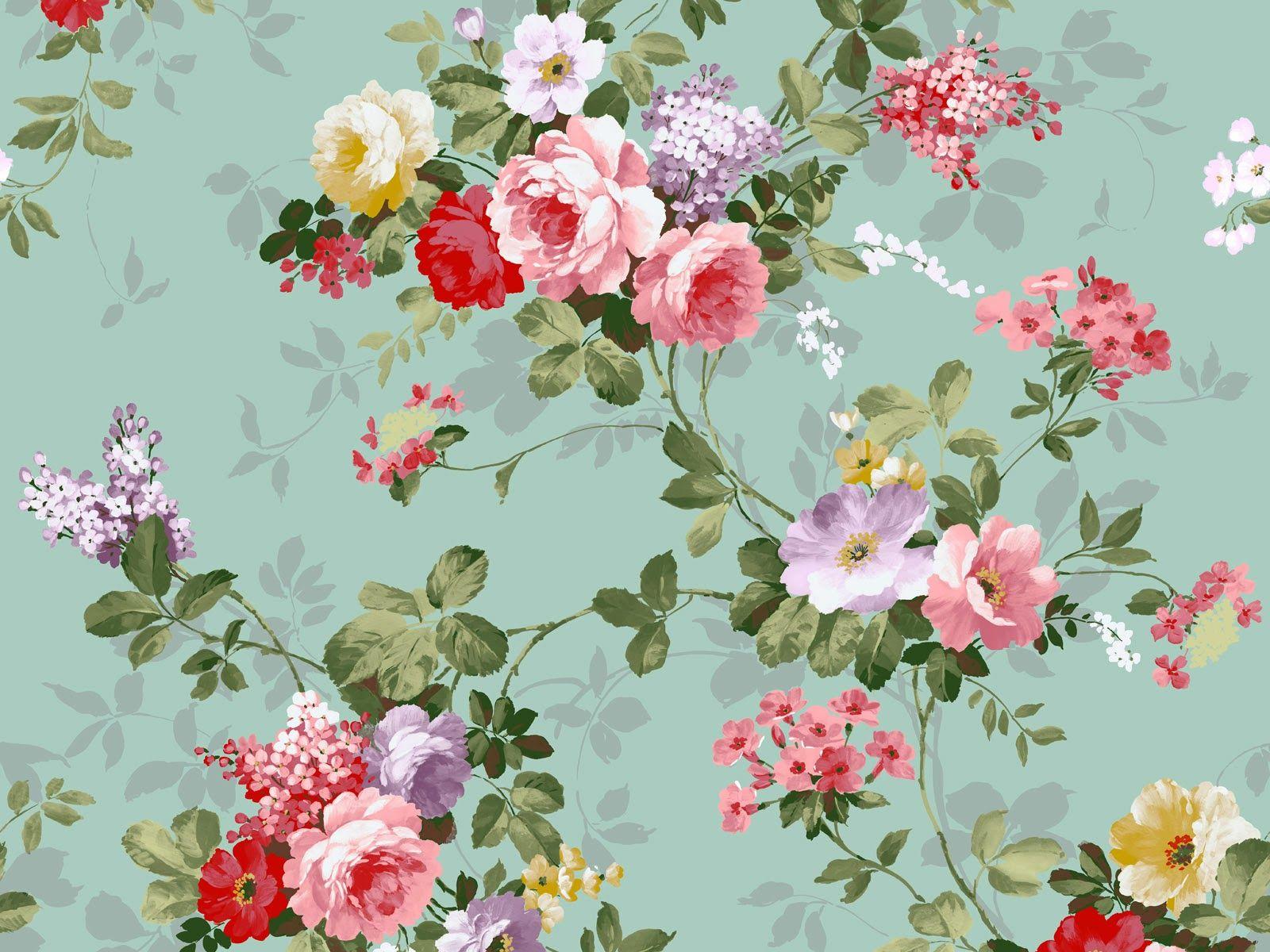 Vintage flowers wallpaper, Vintage floral