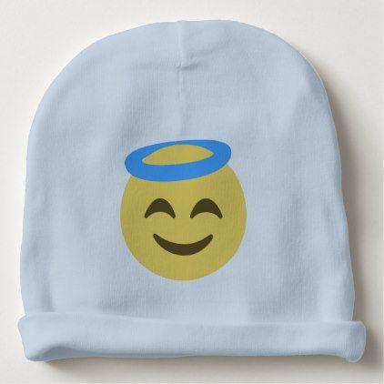 5a44091215c  cute  baby  beanies  babybeanies -  Angel Emoji Baby Beanie