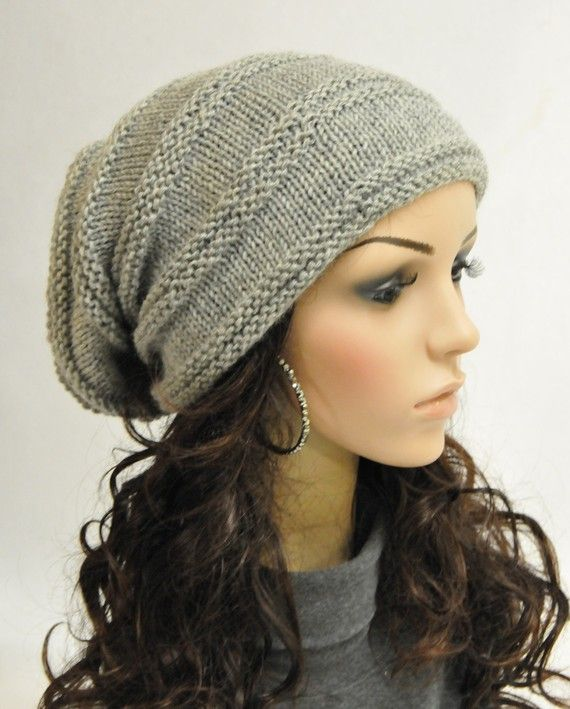 b2d908c8954 Super Cool Chunky Light Grey Wool Hat by MaxMelody on Etsy