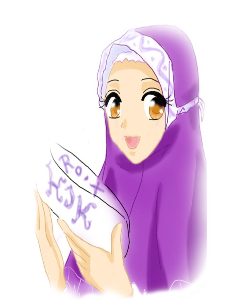 7 Gambar Kartun Muslimah Senyum Lucu Gambar Animasi GIF SWF