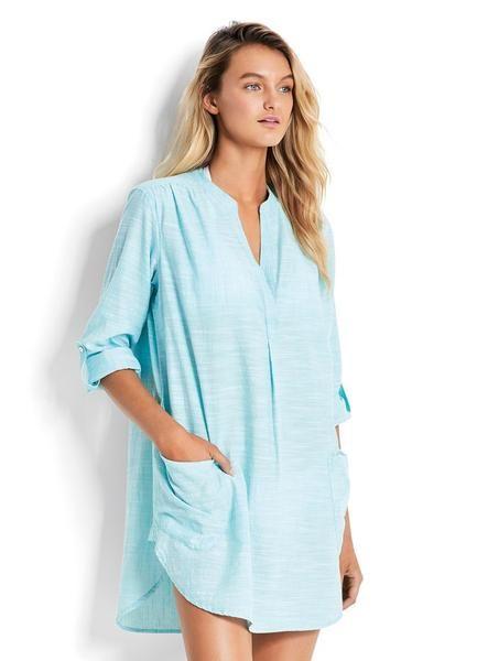 ed32aa1229 Seafolly UK 100% Cotton Boyfriend Beach Shirt in Various Colours ...