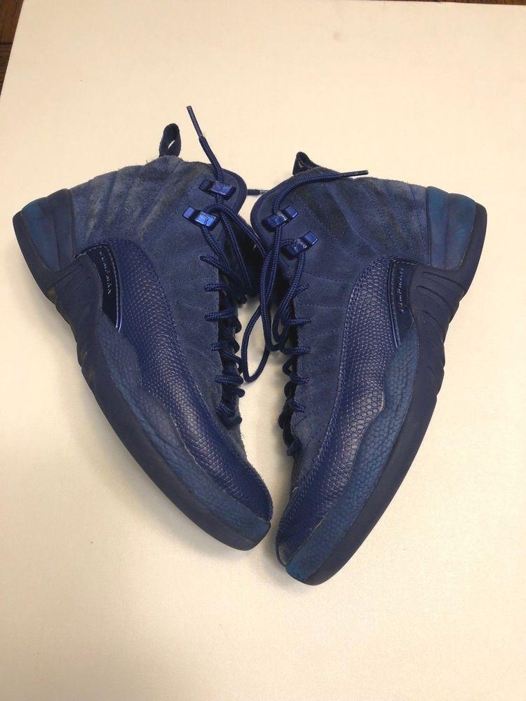 reputable site c4108 46ace Nike Air Jordan 12 XII Retro GS BG Royal Blue Suede 153265-400 sz 6.5Y  Nike   Athletic