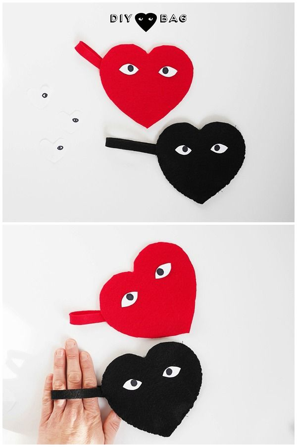 Cute and Easy DIY heart felt favor bags | guest post La Maison de Loulou