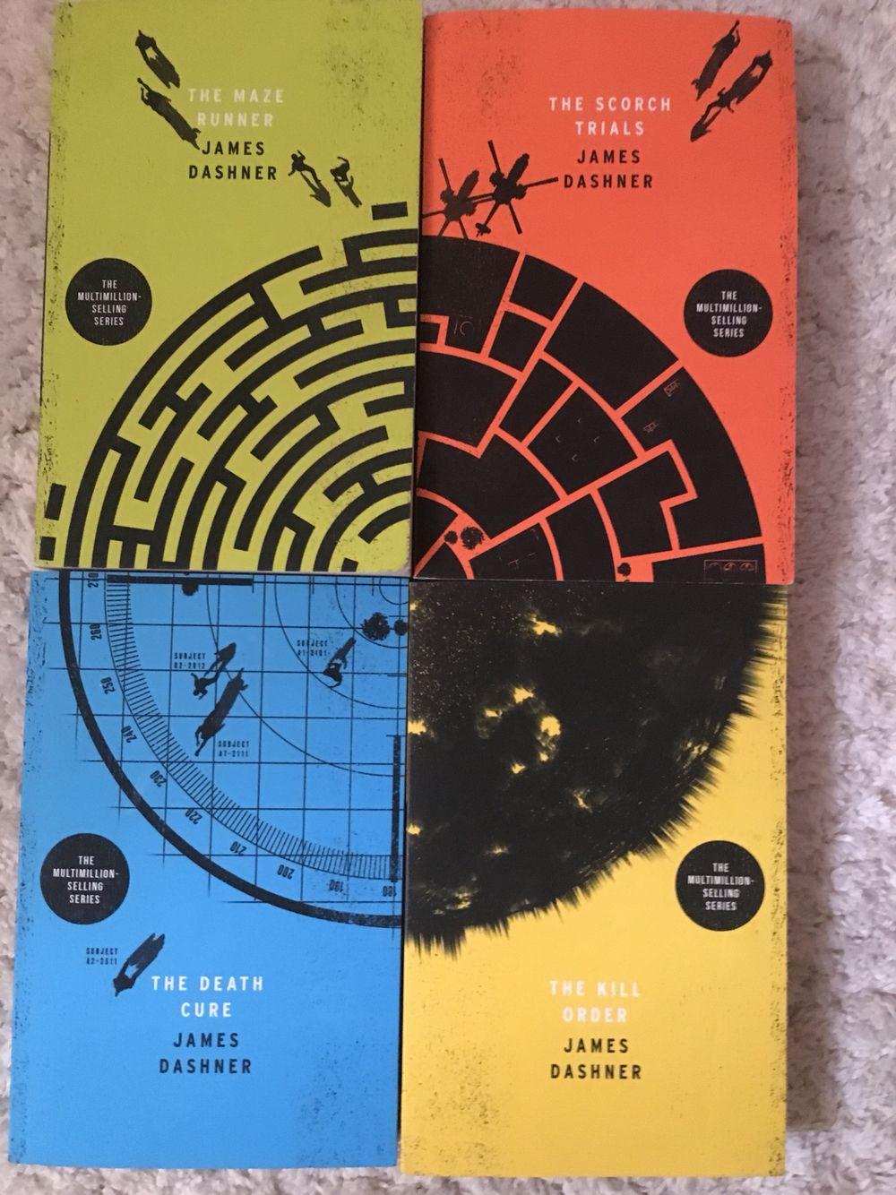 Finally got all four corners of the maze runner books