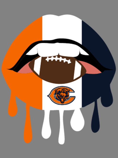 Dripping Lips Football Chicago Bears Svg Chicago Bears