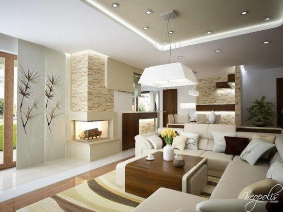 Luminosas y acogedoras salas de estar modernas para la for Casas modernas acogedoras