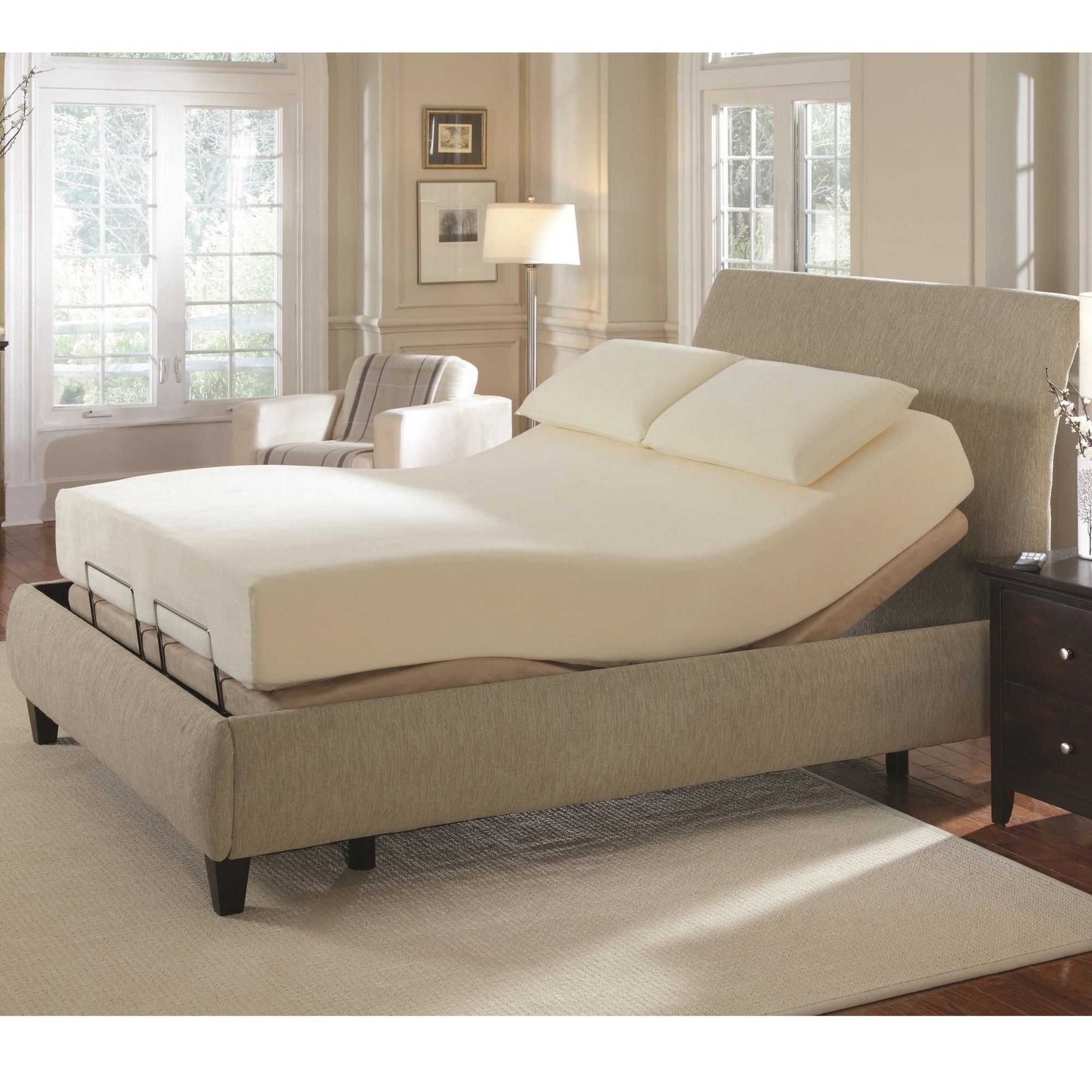 Upholstered Panel Bed Adjustable bed base, Adjustable