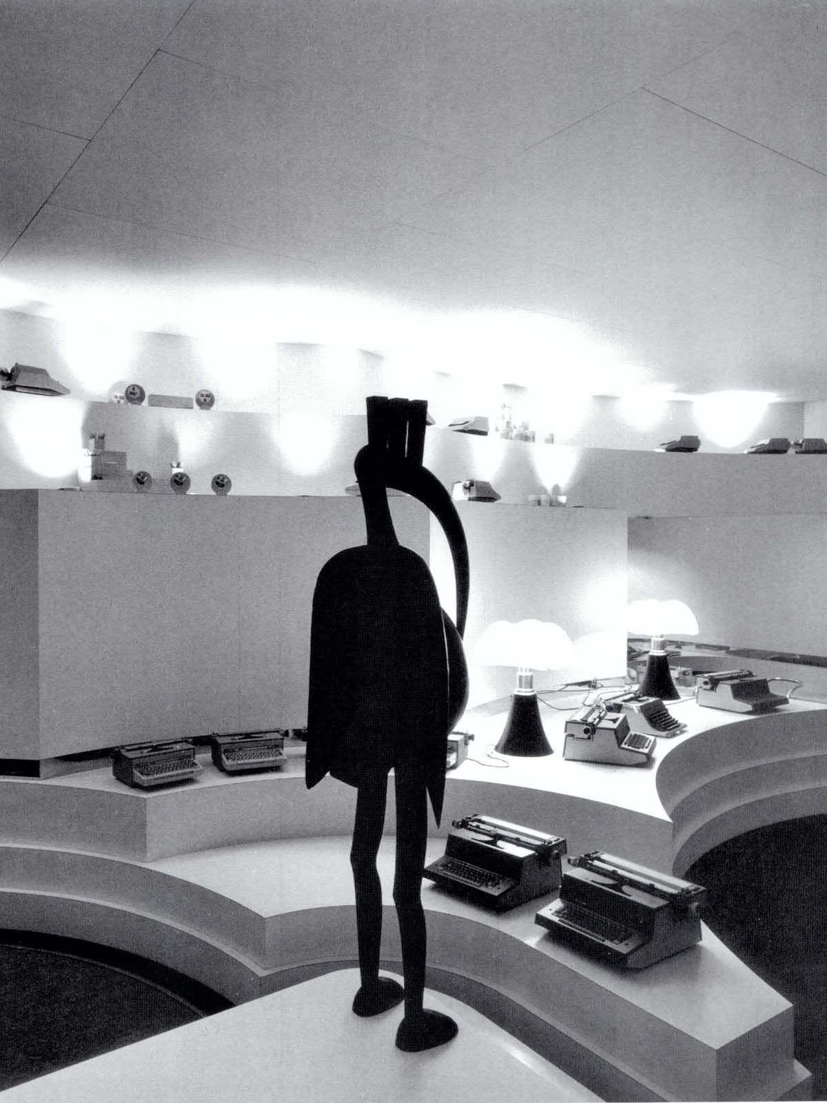 Olivetti shop in Paris designed by Gae Aulenti - 1967