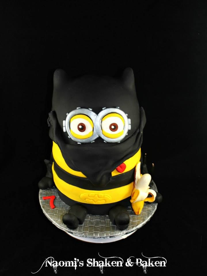 Batminion cake birthdaycake cakedecorating birthday birthdayboy