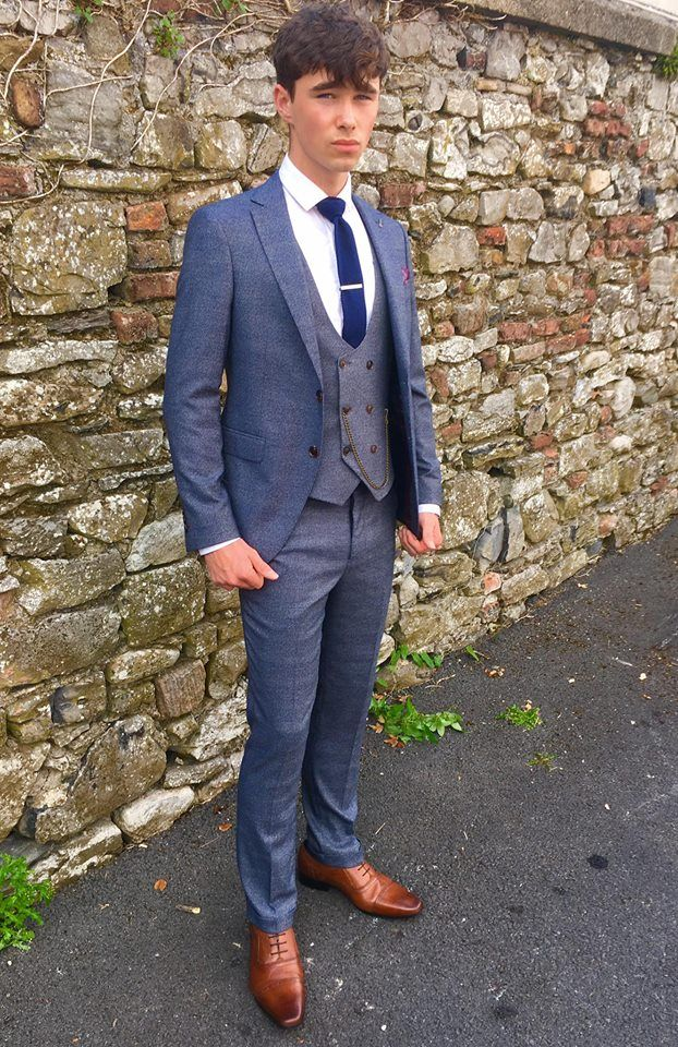 Travis Navy Check Suit - €169.95 Introducing The Travis Suit brand to Ej Menswear especially for this years Grads & Debs season. This 3 piece subtle check suit with double breasted contrast waistcoat is going to be a real winner. Limited stock availability.