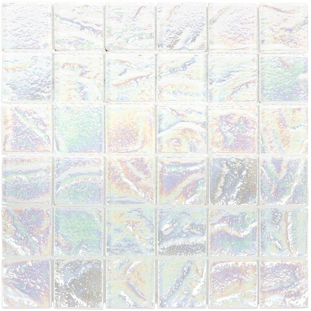 Ivy Hill Tile Marina Iridescent Squares White 11 75 In X