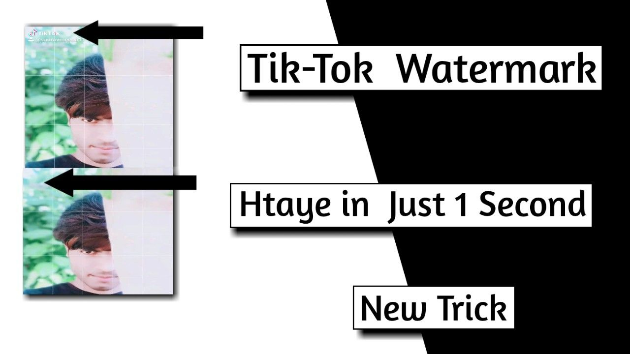 How To Remove Tik Tok App Watermarks New Trick In Hindi New Tricks Tik Tok Tok