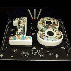 18th birthday cakes number Google Search Birthday Cake Ideas