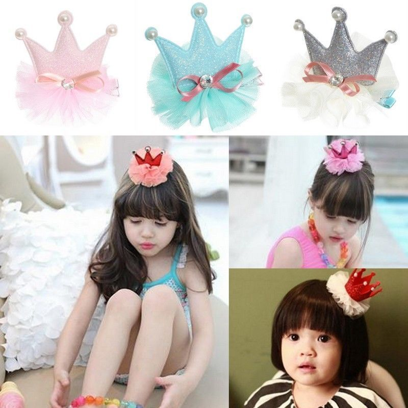 Details about Girls Crystal Tiara Crown Princess Baby Hairpin Hair Dress Kids Bow Hair Clips #babyhairaccessories