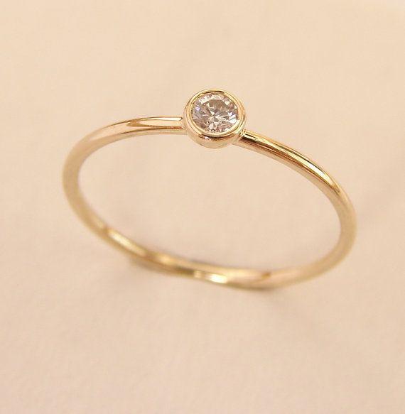 diamond gold ring simple engagement ring gold engagement. Black Bedroom Furniture Sets. Home Design Ideas
