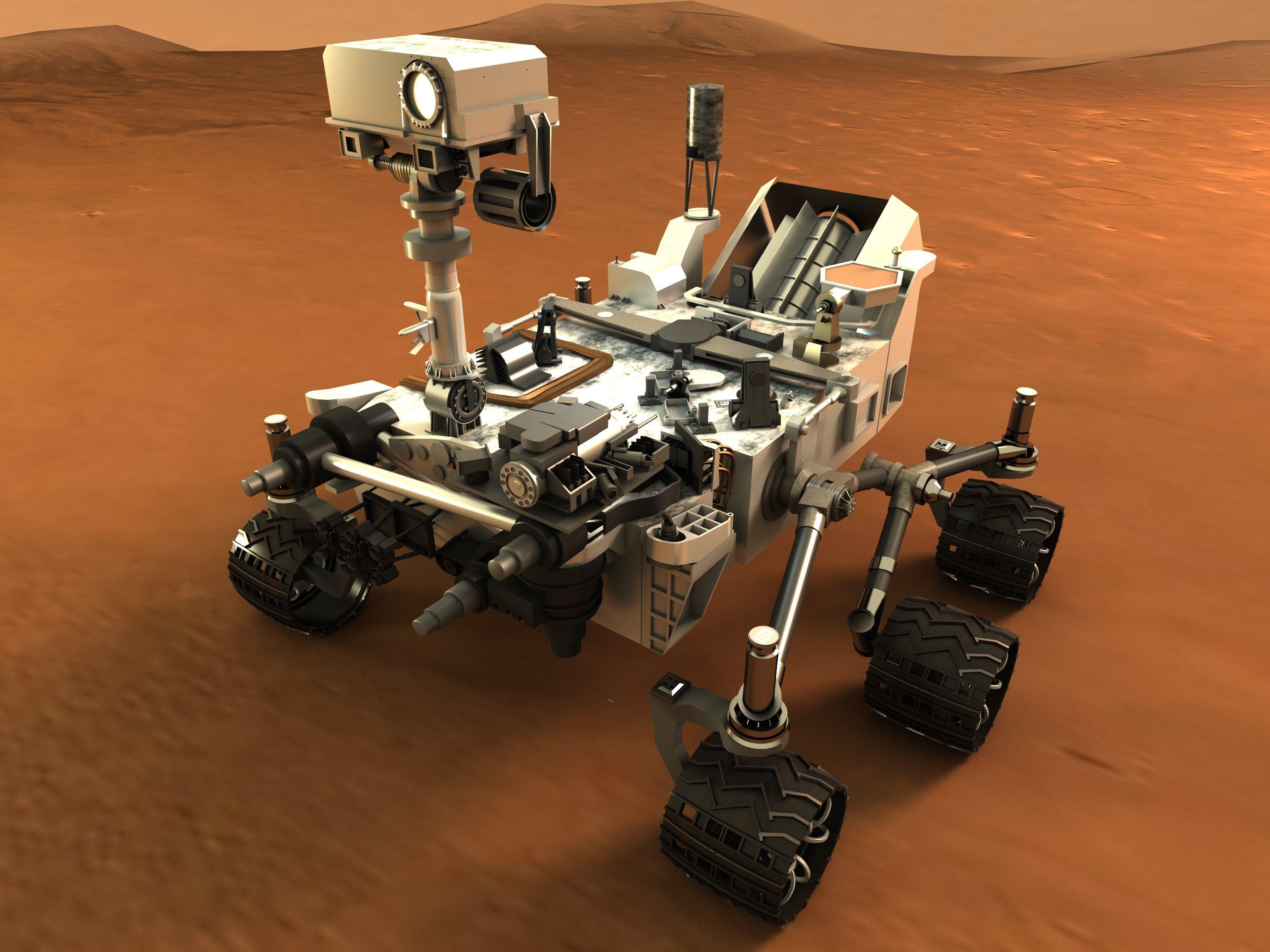 Curiosity Mars Rover Fbx - 3D Model | Curiosity mars, Mars ...