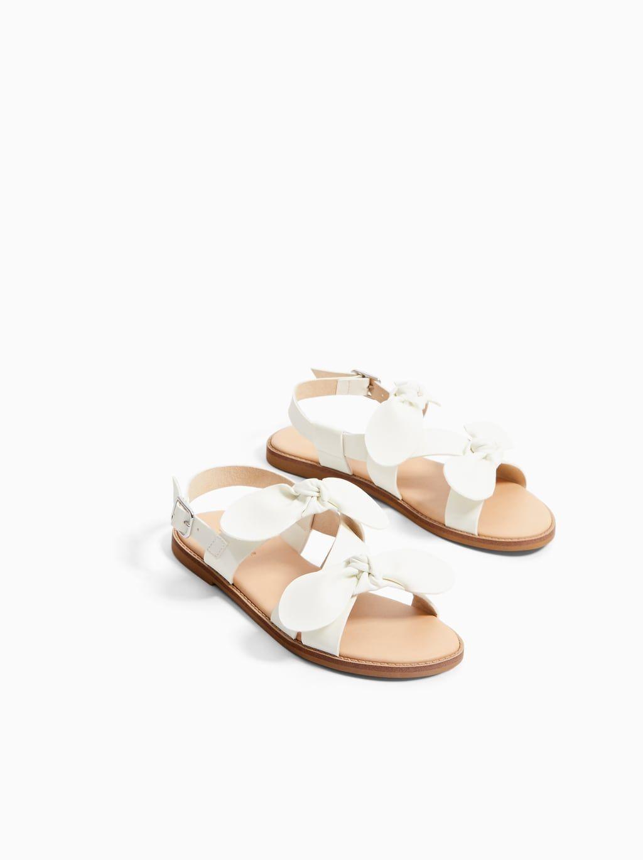Imagen 3 De Sandalia Lazos De Zara Zapatos Para Niñas Sandalias De Cuero Zapatos Para Bebe Niña