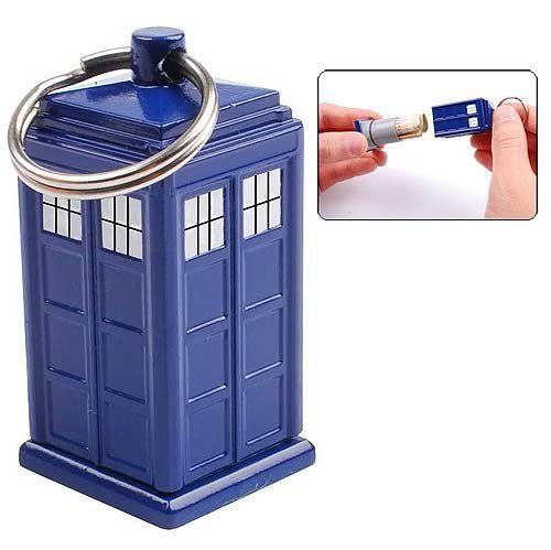 Doctor Who TARDIS Keychain (/w Secret Bank) Underground Toys http://www.amazon.ca/dp/B004IIZDIE/ref=cm_sw_r_pi_dp_zQ89tb02M1RYK