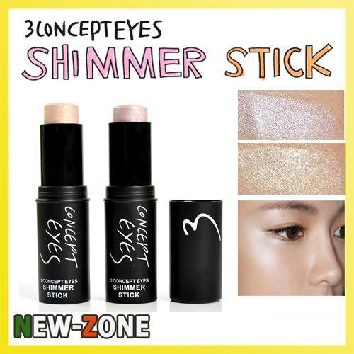 100% Brand New Moisture Shimmer Concealer Stick Face Body Highlight Makeup Highlighter Cream stick