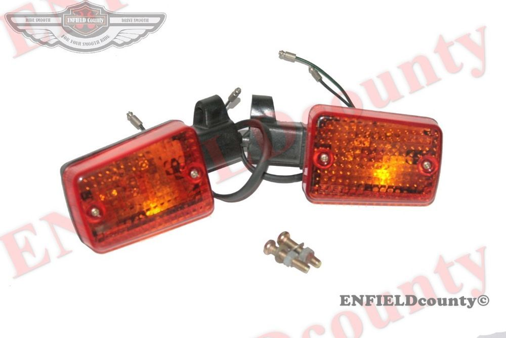 BRAND NEW ROYAL ENFIELD FRONT RECTANGLE ORANGE AMBER