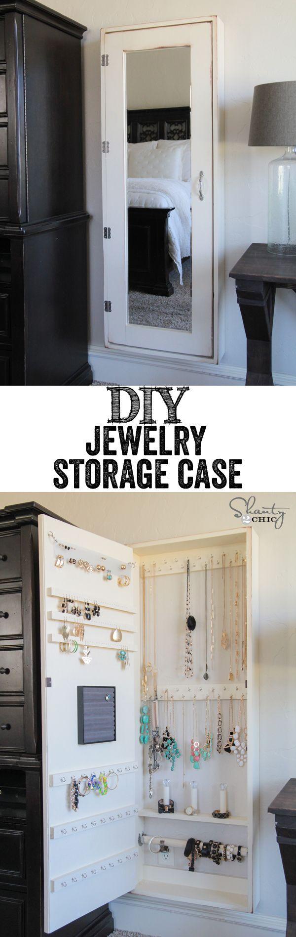 diy jewelry organizer!! - shanty 2 chic | storage hacks