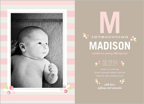 sweet berry girl birth announcement baby announcement ideas