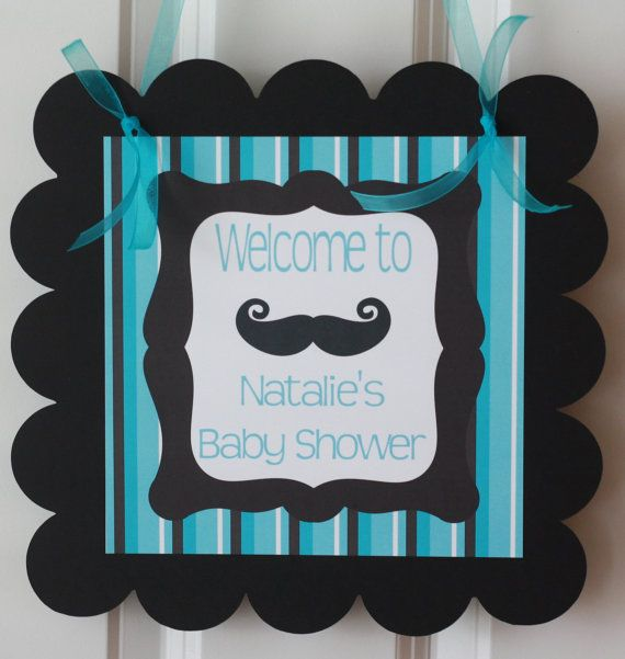 Elegant Door Sign Hanger Mustache Bash Little Man Baby Shower Theme   Party Packs  Available On Etsy